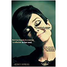 JSC244 Audrey Hepburn Quote Poster | 18-Inches By 12-Inches | Premium 100lb Gloss Poster Paper