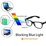 Cyxus Blue Light Blocking Glasses for Kids and Teens, Anti Eye Strain UV Computer Eyewear Clear Lens (Black)