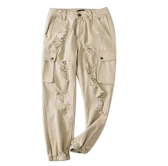 Keephen Pantalones de Cintura Alta para Mujer Vendaje Pantalones ...
