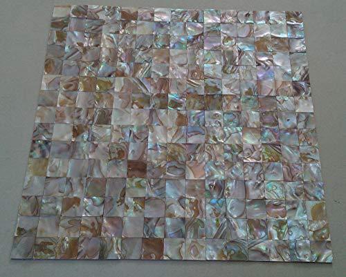 - FidgetFidget Natural Shell Mosaic Tile Mother of Pearl Kitchen backsplash Wall groutless Tile