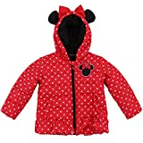 Girls' Minnie Mouse Warm Winter Puffer with Hood Jacket Coat 6