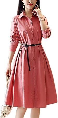 Vestido, Medio Largo de Cintura Adelgazante Blanco Una Palabra Falda de algodón 3 Colores 4 tamaños (Color : B, Size : XL): Amazon.es: Hogar