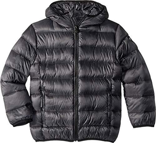 Appaman Kids Baby Boy's Extra Lightweight Packable Down Puffer Jacket (Toddler/Little Kids/Big Kids) Black Digi Camo 8 -