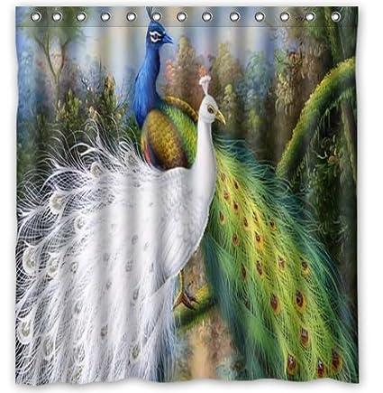Standard Store Custom Beautiful Peacock Shower Curtain 66quot