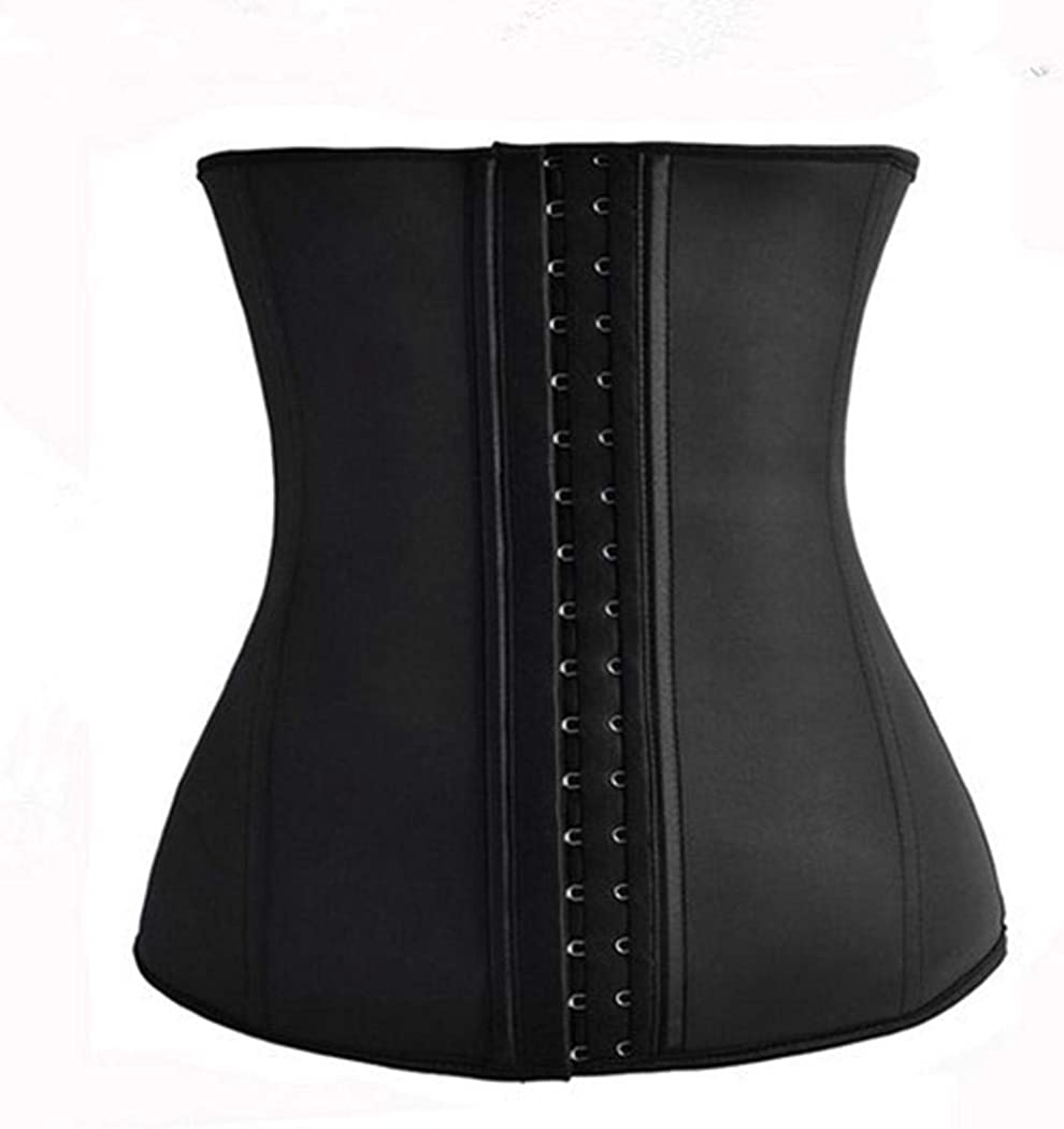 sooseder Women Waist Trainer 3-Breasted Tummy Control Belt Weight Loss Body Shaper Corsets