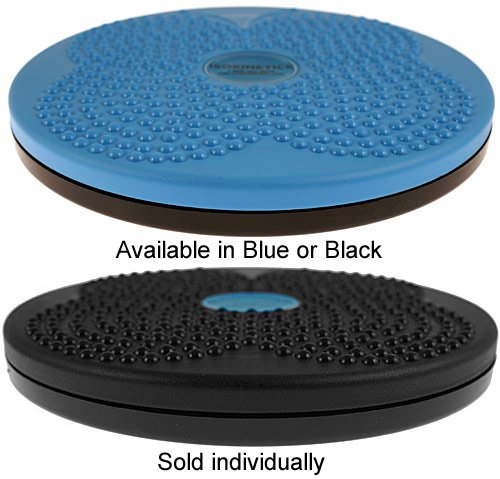 Isokinetics Inc. Brand Twist Board Rotating Disc for Fitness and Exercise Choice of Blue or Black 10""