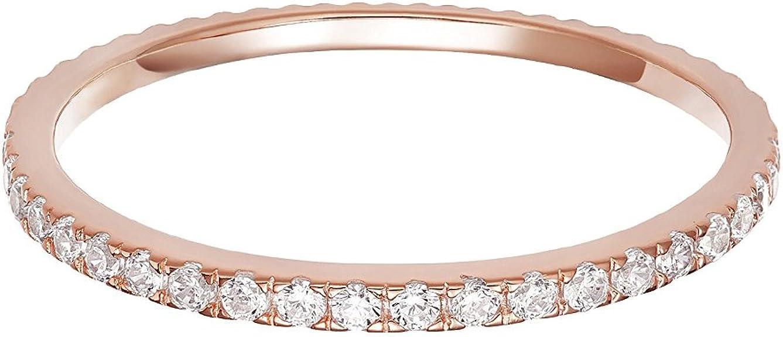 Dainty Gorgeous Diamonds CZ Ring 14K Yellow Gold Baguette Diamonds Stacking Ring Yellow Gold Plated 925S Silver CZ Baguette Eternity Ring