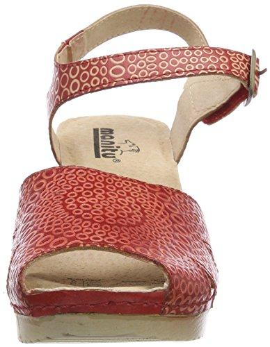 910786 Rot Femme Arriere Rouge 4 Bride Sandales Manitu pWCZdqww