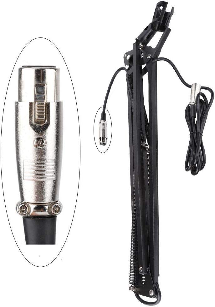 ASHATA Microphone Cantilever Full Angle Bracket Desktop Microphone Holder,Adjustable Microphone Stand with Adjustable Metal arm,Cantilever Holder for Folding Cantilever for Work,Meeting,Family