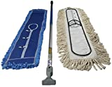 FlexSweep Unbreakable 36'' Commercial Closed Loop Cotton Dust Mop | Includes Cushion Microfiber Dust Mop