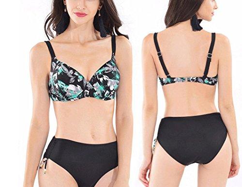 Traje de baño de las señoras Bikini de moda de impresión traje de baño caliente Split Bikini B