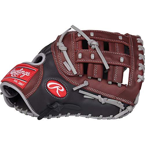 Rawlings R9 Baseball Glove, Black, 11.75