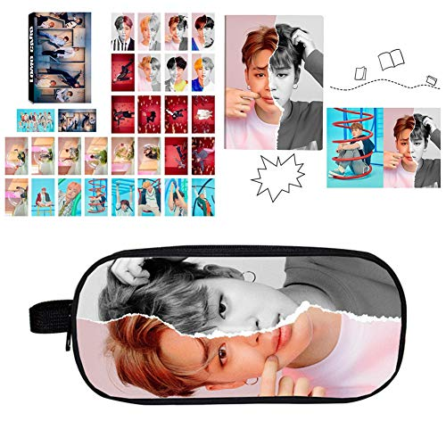 Hosston BTS Gifts Set for Army, BTS New Album [Love Yourself 结 'Answer'] Accessories with 30 PCS Lomo Card, 1 PCS Pencil Case and 1 PCS BTS Notebook(Style 10)