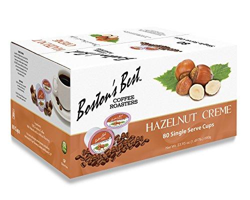 Boston's Best Single Serve K-Cup Coffee, Hazelnut Creme, 80 Count