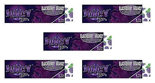 Juicy Jay's Blackberry Brandy {5 Packs} Jays 1 & 1/4 Flavored Rolling Papers