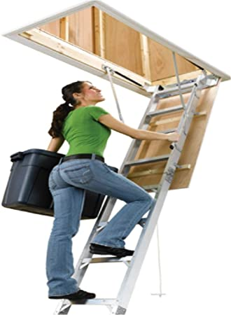 Escalera escamoteable Olk 70 x 120 aislada incluye pasamanos de metal: Amazon.es: Bricolaje y herramientas