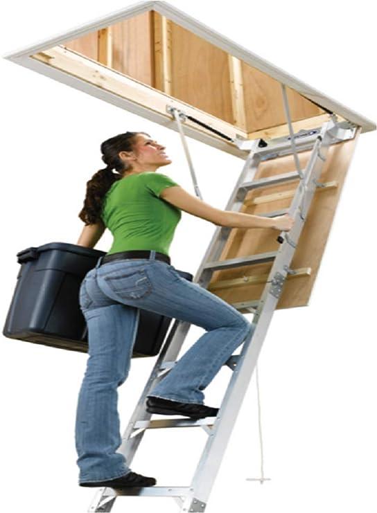 Escalera escamoteable Olk 70 x 120 aislada incluye pasamanos de ...