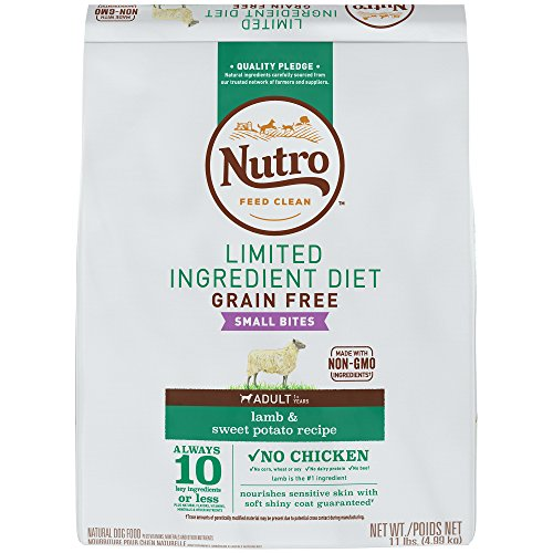 NUTRO Limited Ingredient Diet Natural Small Bites Adult Lamb & Sweet Potato Recipe Dog Food 11 Pounds