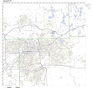 Amazon.com: East Lansing, MI ZIP Code Map Laminated: Home & Kitchen