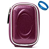 Purple Candy VG Compact Semi Hard Protective Camera Case for Fujifilm FinePix Ultra Compact Digital Cameras + SumacLife TM Wisdom Courage Wristband