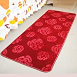 X&Y Cloud mink velvet carpet The door living room bedroom Bedside Foot pad kitchen bathroom Mats , 140200cm , red