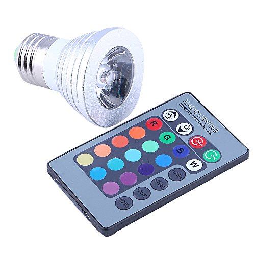Generic 3W E27 Color Changing Light Bulb With Remote