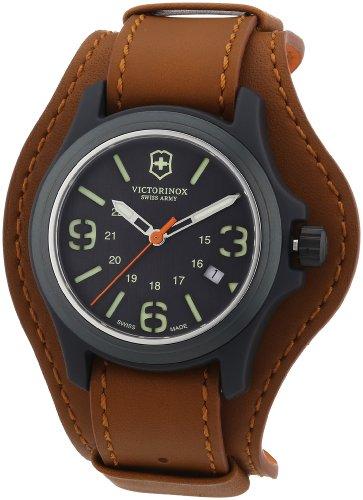 Victorinox Men's 241593 Original Brown/Black Nylon Fiber/Leather Watch