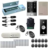 Visionis FPC-5296 One Door Access Control Outswinging Door 1200lbs Maglock with VIS-3000 Outdoor Weather Proof Keypad/Reader no software 2000 Users Wireless Receiver with PIR Kit