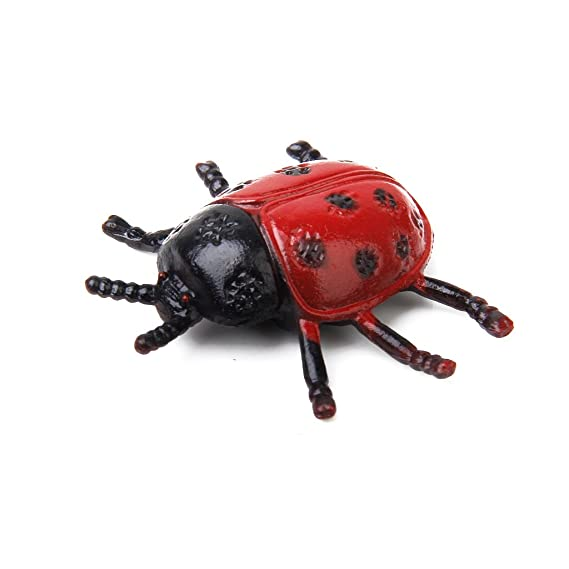 12 Plastic Ladybird Ladybug Bug Insects Figures Party Goody Loot Bag Favors