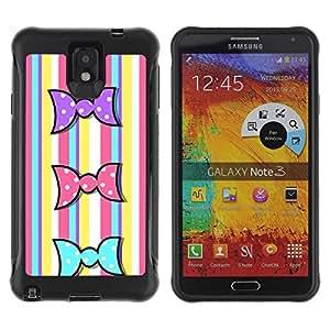 """Hypernova Defender Series TPU protection Cas Case Coque pour SAMSUNG Galaxy Note 3 III / N9000 / N9005 [Líneas de dulces de Pascua coloridos amarillo""""]"""