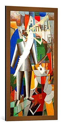 kunst für alle Framed Art Print: Kasimir Sewerinowitsch Malewitsch The Aviatic - Decorative Fine Art Poster, Picture with Frame, 17.7x33.5 inch / 45x85 cm, Copper Brushed