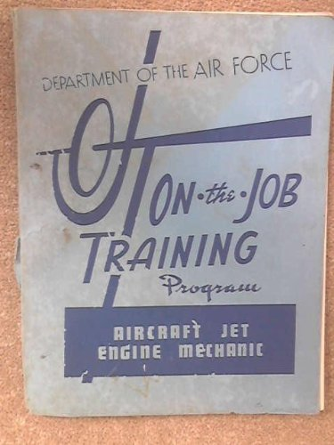 On the Job Training Manual 1954 USAF Aircraft Jet Engine Mechanic JP 43153