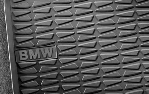 BMW X1 All-Weather REAR Rubber Floor Mats 2013-2015 (Front mats pictured; Rears do not have lettering) (Floor Mats Rear Black Bmw)