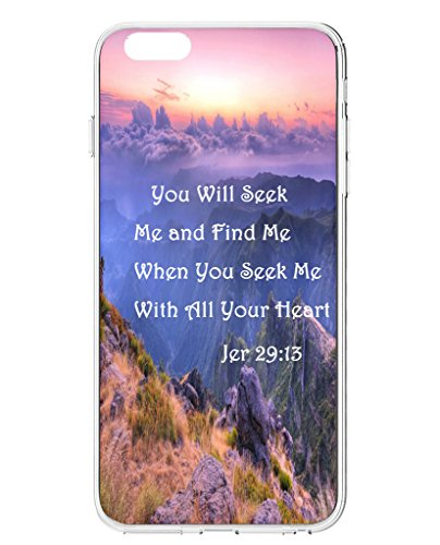 Iphone Case For Iphone 6S Plus 5 5 Inch  2015    Mountain Sea   Jer 29 13 You Will Seek Me And Find Me When You Seek Me With All Your Heart