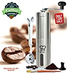 Silva Stainless Steel Manual Adjustable Burr Coffee Grinder- Herb and Spice Grinder mill- For French Press -Aeropress Compatible. from Silva® Restaurant and Kitchen Tools