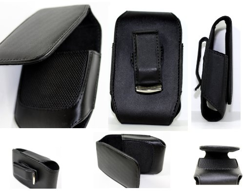 Black Holster Leather Case Cover with Belt Clip for Blackberry 8300 8310 8320 8330 Curve Cellular Phone Accessory