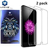 [2 Pack] iphone 8, 7, 6 screen protector, Premium 9H Tempered Glass with japan asahi glass material, anti-shock,anti-scratch,anti-fingerprint, bubbles-free