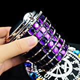 bling car cup holder - Besplore Bling Bling Diamond Car Ashtray Auto Cigarette Odor Smoke Remover Cylinder Cup Holder Smokeless With LED Lamp Classical Style(Purple)