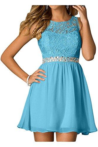 Blau Hell Blau Damen Spitze mit Partykleider Mini Braut La Cocktailkleider Abendkleider Kurzes mia Tanzenkleider Heimkehr xOtywEFq6