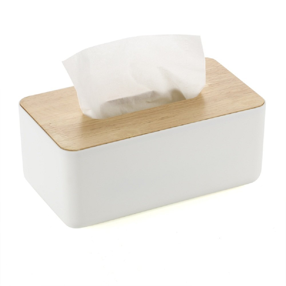 Fealkira Oak Cap Tissue Box Cover Toilet Paper Holder Dispenser for Your Home, Bathroom and Office (round) COMIN18JU087047