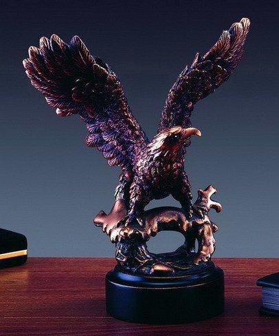 Perched Eagle Statue in Bronze – Sculpture