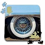 Danita Delimont - Gloucester - Massachusetts, Gloucester, Antique Car Show, 1950s convertible tire - 10x10 Inch Puzzle (pzl_251145_2)