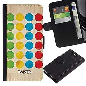 A-type (Game Twist Family Fun Kids) Colorida Impresión Funda Cuero Monedero Caja Bolsa Cubierta Caja Piel Card Slots Para Sony Xperia Z3 Compact / Z3 Mini (Not Z3)