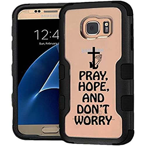 Galaxy S7 Case Pray Hope And Don't Worry, Extra Shock-Absorb Clear back panel + Engineered TPU bumper 3 layer Sales