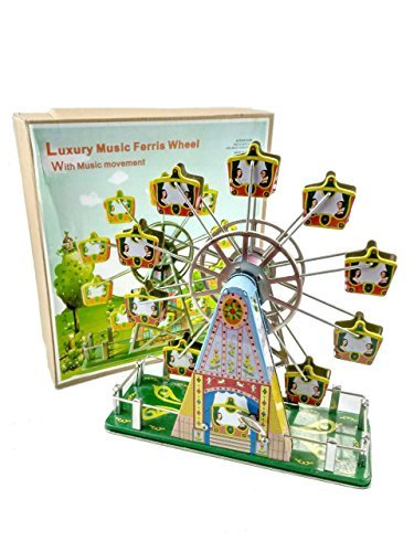 tin toys new collector wind up metal Ferris wheel by tin toys (Image #1)