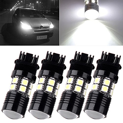 CCIYU 4X 3157 White 6000K Back Up Reverse Projector Cree+12 SMD Chip LED Lights Bulbs