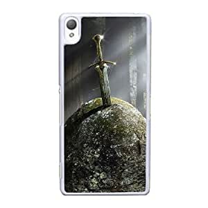 Sony Xperia Z3 Cell Phone Case White Fantasy Ancient sword in the stone ST1YL6733532