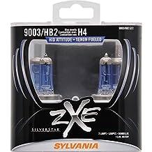 SYLVANIA 9003 (also fits H4/HB2) SilverStar zXe High Performance Halogen Headlight Bulb, (Pack of 2)