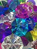 72 Assorted Color Acrylic Large Diamond Gems (32mm x 24mm) By Sunrise Crystal
