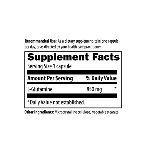 Designs for Health L Glutamine 850mg 120 caps [Health and Beauty]
